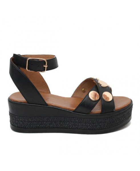 Corda Pelle Sandalo In Platform Nera Wh9iedy2 Con Donna Inuovo nNOPZ8wkX0