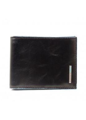 portafoglio uomo PIQUADRO nero tessere monete antifrode