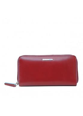 portafoglio cerniera donna piquadro rosso