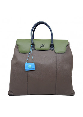 camelia borsa in pelle color marrone/verde GABS