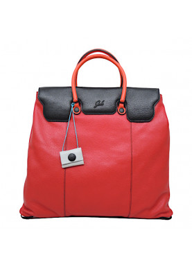 camelia borsa in pelle color rosso/nero GABS