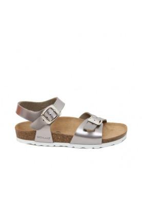sandalo platino grunland con suola anatomica
