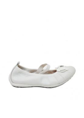 ballerina in pelle bianco geox