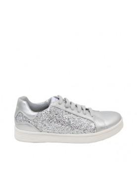 scarpa sportiva bambina geox argento glitter