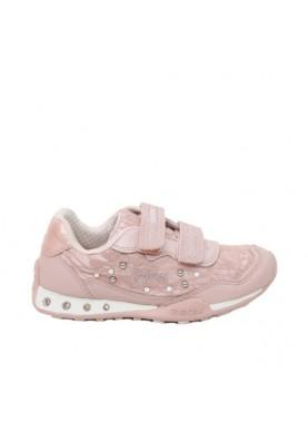 scarpa sportiva strappi color cipria geox bambina