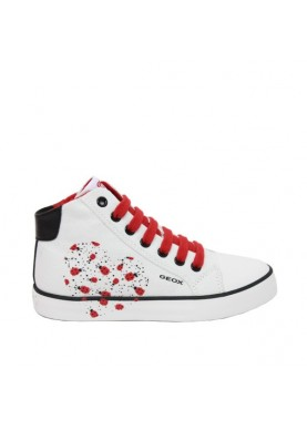sneaker tessuto bianco geox bambina