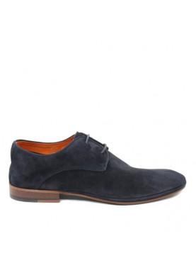 scarpa elegante uomo in camoscio blu Ambitious