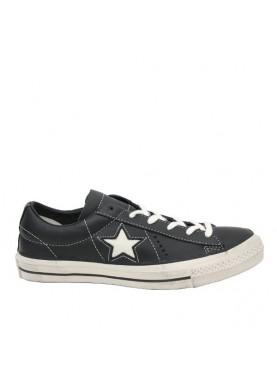 158989C sneaker bassa uomo pelle nera Converse