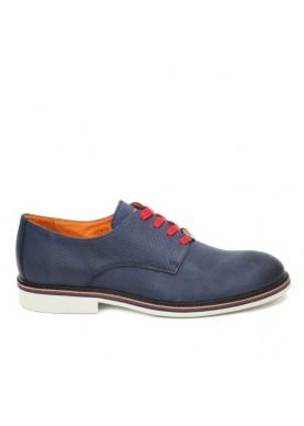 scarpa elegante uomo laserata color blu Ambitious