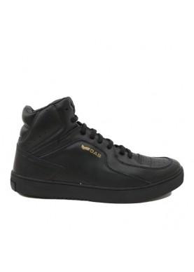 FREDDY sneaker alta uomo in pelle nero GAS