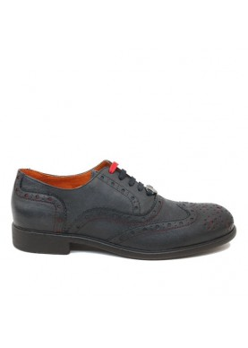 scarpa inglese uomo in pelle blu ambitious
