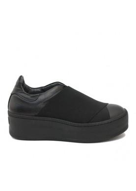 5072P sneaker donna elastico nero Nila&Nila