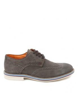 scarpa inglese elegante uomo in camoscio taupe