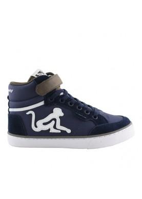 BCLASSIC sneaker bambino blu verde milit drunknmunky