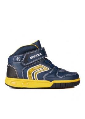 J8447B sneaker alta blu Geox bambino