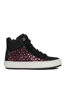 J844GD sneaker alta nero geox bambina