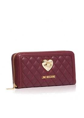 5501 portafoglio cerniera donna bordeaux Love Moschino