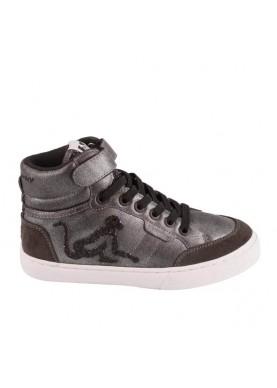 BROCKSTAR sneaker bambina nero drunknmunky