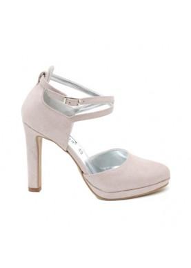 Sandalo cerimonia tacco cipria Divine Follie
