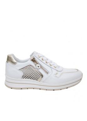 Sneaker Nero Giardini donna pelle bianco P805241D