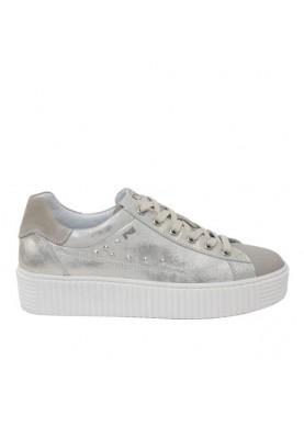 sneaker platform donna nerogiardini oro