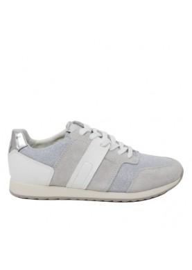 scarpa sportiva donna geox color grigio bianco