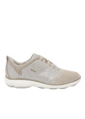 scarpa sportiva senza lacci nebula geox color taupe