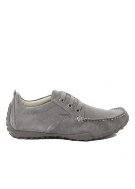 scarpa uomo in camoscio color beige geox