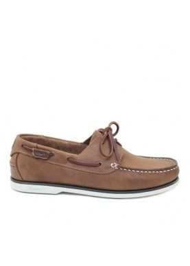 scarpa uomo barca in pelle color marrone Wrangler