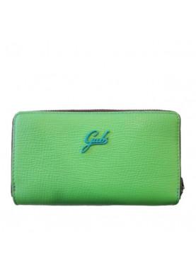 GMONEY19 portafoglio cerniera e bottone donna pelle verde GABS