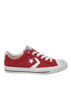 Converse Star Players Distressed 160923C in tessuto rosso