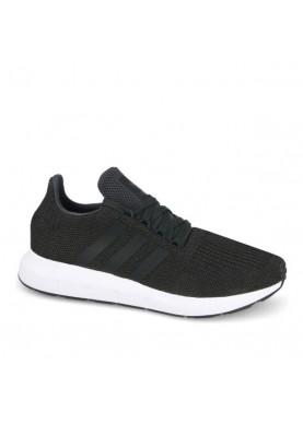 Adidas Swift Run CQ2114 uomo in tessuto nero