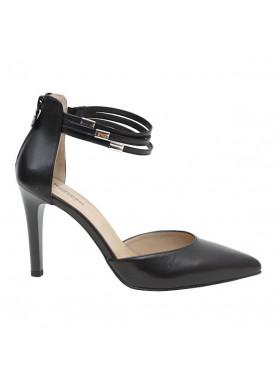sandali tacco donna nerogiardini in pelle nera