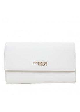 75B705 pochette Trussardi Jeans bianco