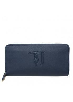 75W001 portafoglio cerniera donna Trussardi Jeans blu