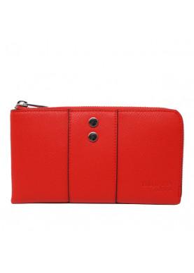 75W124 portafoglio cerniera donna Trussardi rosso