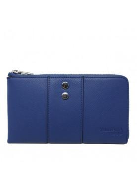 75W124 portafoglio cerniera donna Trussardi blu
