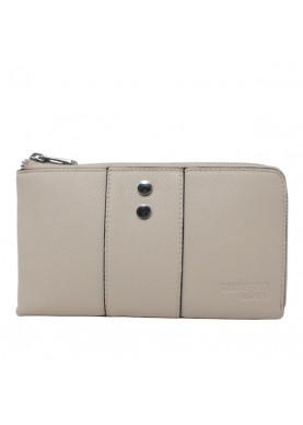 75W124 portafoglio cerniera donna Trussardi beige