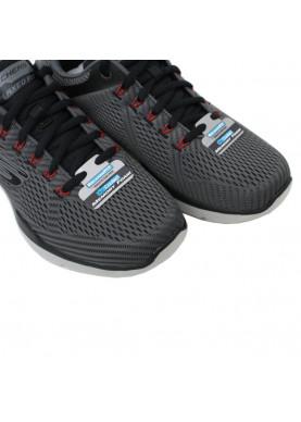 scarpa sportiva skechers uomo tessuto grigio