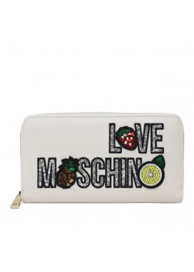 5653 portafoglio cerniera avorio Love Moschino