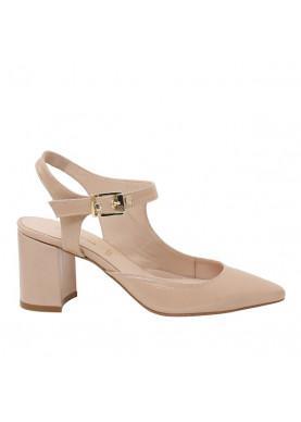 sandali tacco donna carmens vernice cipria