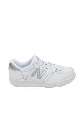 scarpa bambini New Balance 300 in pelle bianco