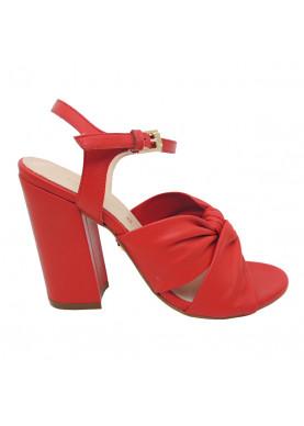 sandalo rosso tacco carmens
