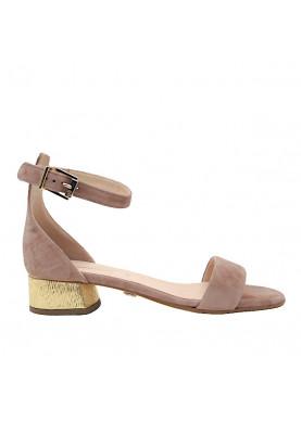sandalo basso camoscio beige carmens donna