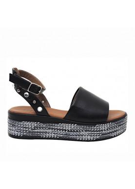 sandalo inuovo donna nero 117003