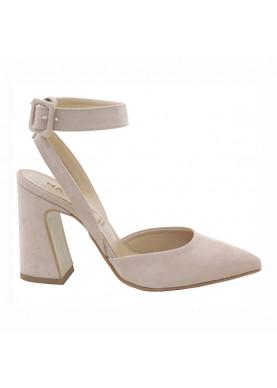 sandali punta tacco largo donna