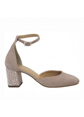 sandalo tacco cipria donna