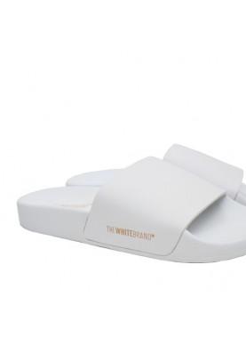 ciabatta donna di gomma con fascia bianca the white brand