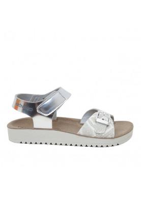 sandalo bambina argento strappo grunland