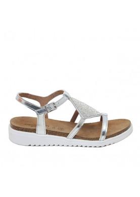 sandalo bambina argento brillantini grunland